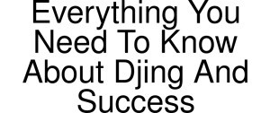 Everything You Need To Know About Djing And Success Logo