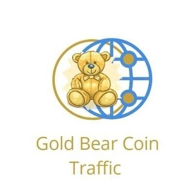 Gold Bear Coin Traffic Logo