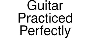 Guitar Practiced Perfectly Logo