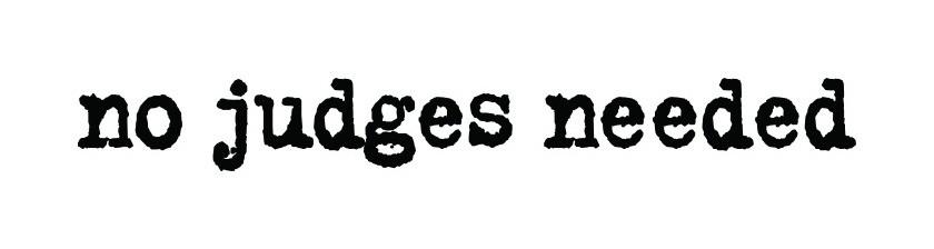 No Judges Needed Logo