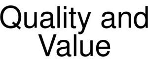 Quality And Value Logo
