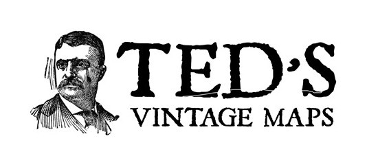 Ted's Vintage Maps Logo